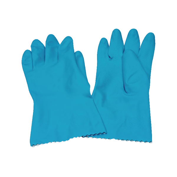 Rubber Gloves Medium Blue (6 Pack) KBMRY067