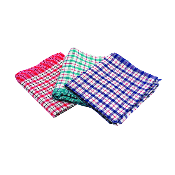 Assorted Check Design Tea Towels 430x680mm (10 Pack) KRSRY0311