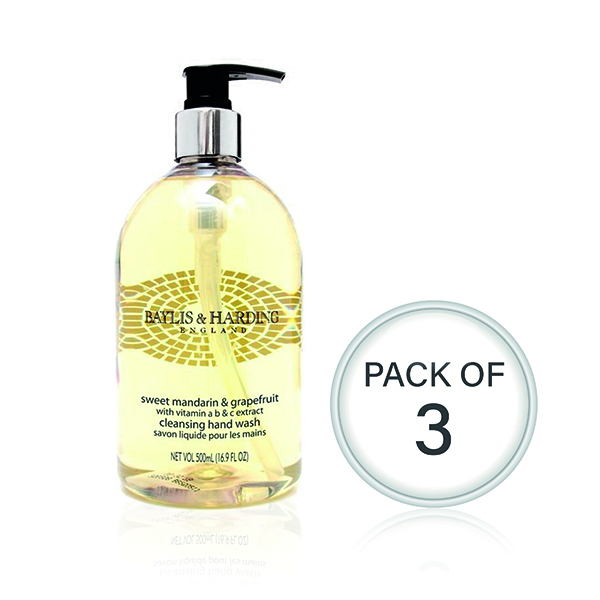 Baylis & Harding Mandarin/Grapefruit Wash 500ml (3 Pack) 604242