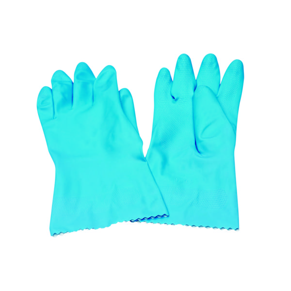 Rubber Gloves Medium Blue (12 Pack) 803191