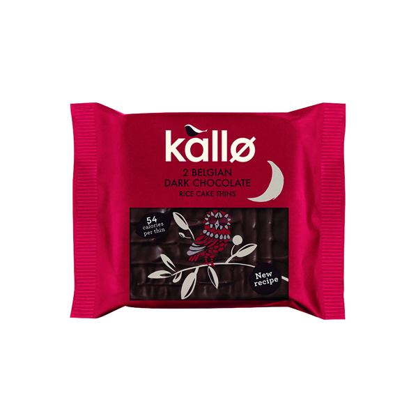 Kallo Dark Chocolate Rice Cake Thin  (21 Pack) 0401167