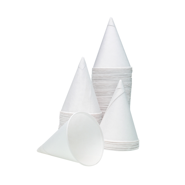 4oz Water Drinking Cone Cup White (5000 Pack) ACPACC04