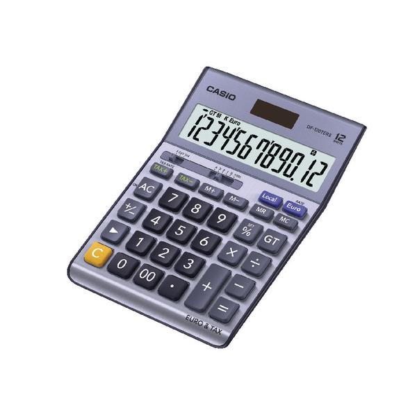 Casio Silver DF-120TERII Desktop Calculator DF-120TERII