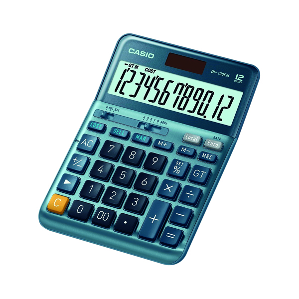 Casio DF-120EM 12 Digit Desktop Calculator DF-120EM-WK-UP