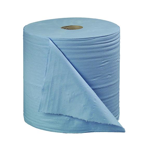 2Work 2-Ply Forecourt Roll 400m Blue (2 Pack) B2B340