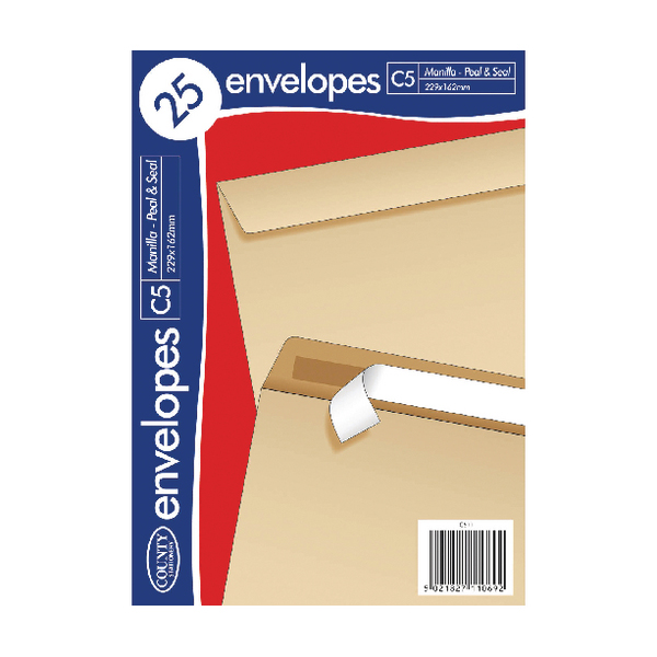 County Stationery C5 25 Manilla PS Envelopes (20 Pack) C511