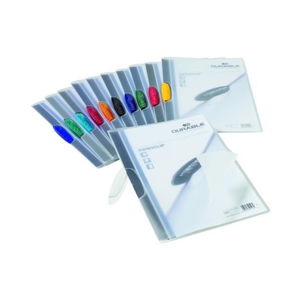 Durable Swingclip Clip Folders Assorted (25 Pack) 2260/00