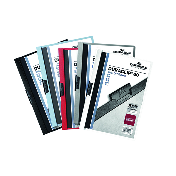 Durable 6mm Duraclip File A4 Assorted (25 Pack) 2209/00