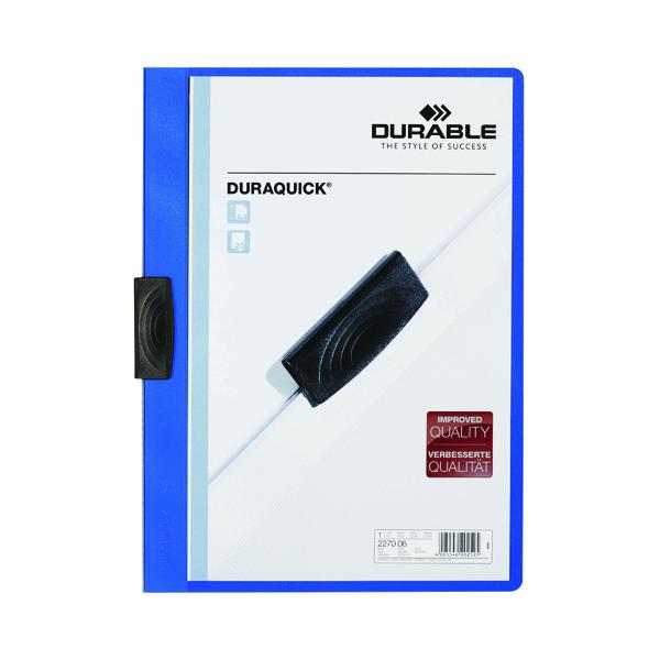 Durable Duraquick Clip Folder A4 Blue (20 Pack) 2270/06