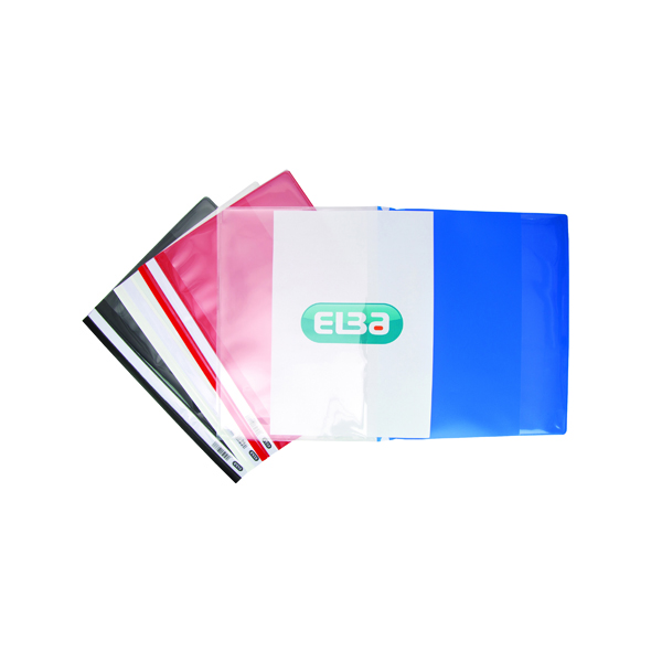 Elba Pocket Report File A4 Assorted (25 Pack) 400055040
