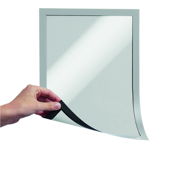 Durable Magnetic A4 Duraframe Silver (5 Pack) 486923