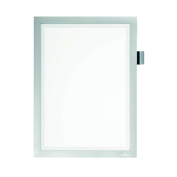 Durable Duraframe Note Magnetic Frame A4 Silver 499323