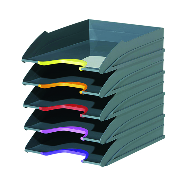 Durable Varicolor Letter Tray Assorted (5 Pack) 770557