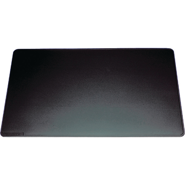 Durable Black Desk Mat With Contoured Edges 400x530mm 7102/01