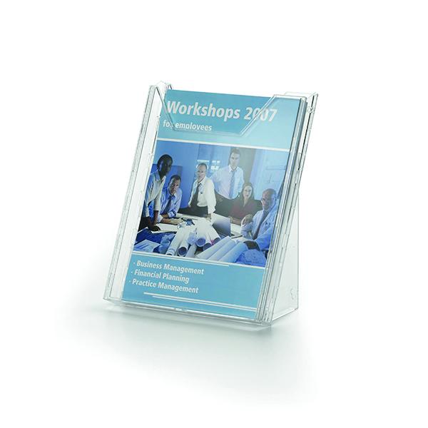 Durable Combiboxx A4 Portrait Literature Holder, Transparent 8578/19