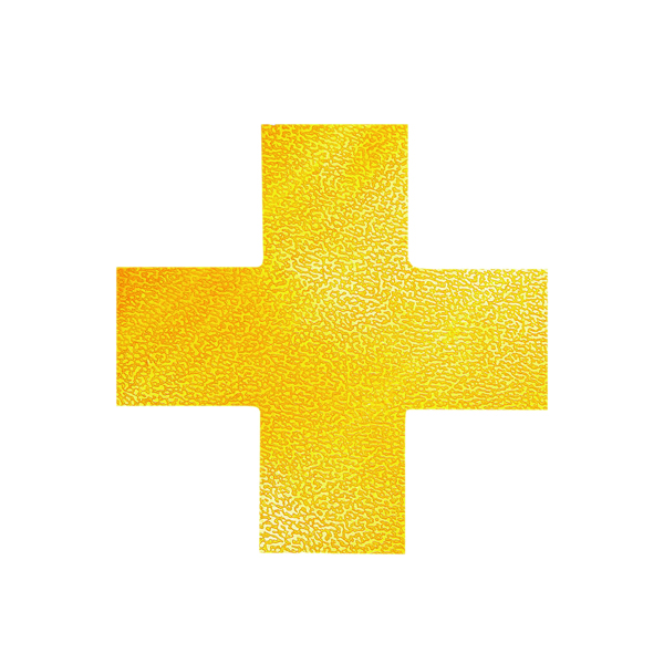 Durable Floor Marking Shape Cross, Yellow (10 Pack) 170104