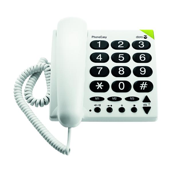 Doro Big Button TeleWhite Phone 311C