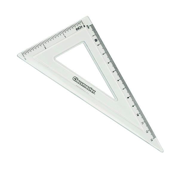 Classmaster 60 Degree Set Square Clear (30 Pack) S60/30