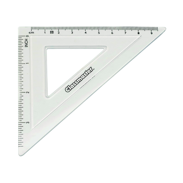 Classmaster 45 Degree Set Square Clear (30 Pack) S45/30