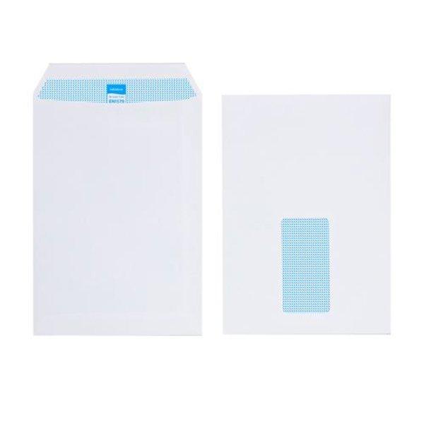 Initiative Envelope Pocket C5 Self Seal 90g White Window (500 Pack)