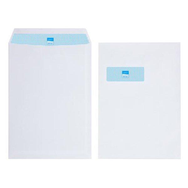 Initiative Envelope Pocket C4 Self Seal 90g White Window (250 Pack)