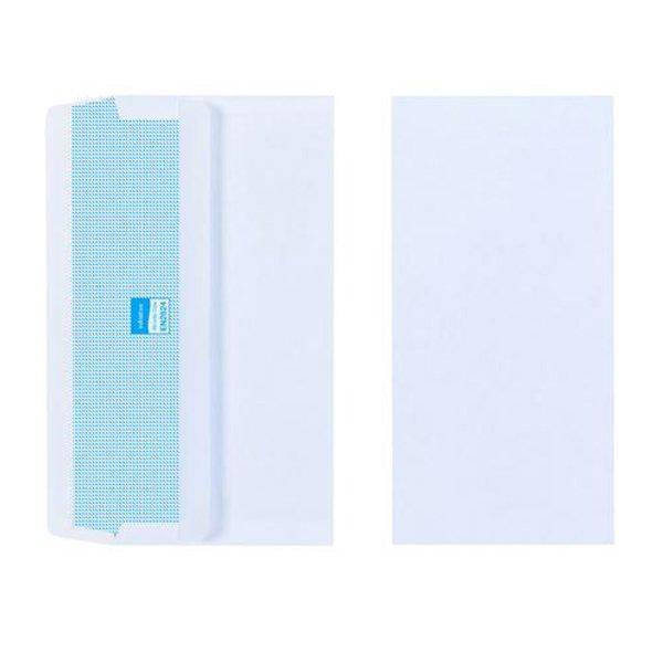 Initiative Envelope DL Self Seal Plain Banker 80gsm White (1000 Pack)