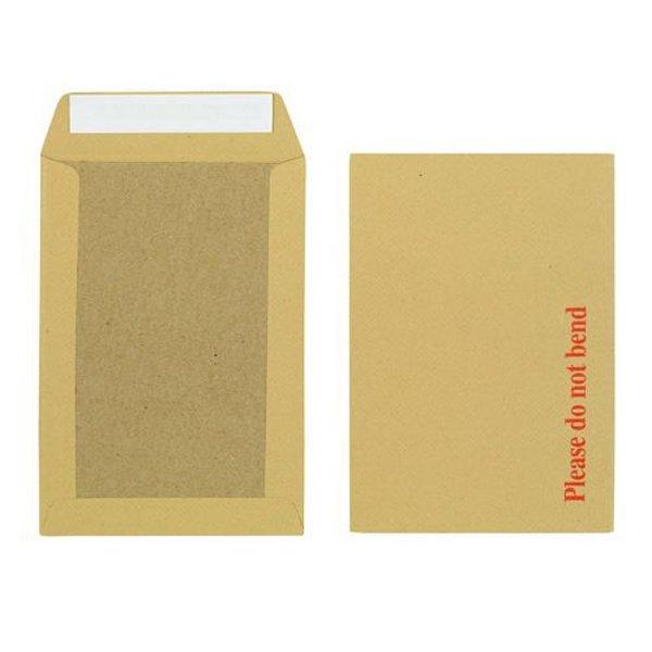 Initiative Envelope Boardbacked Peel n Seal 250x176mm 115gsm Manilla (125 Pack)