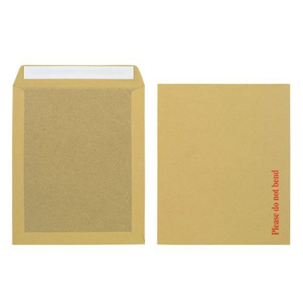 Initiative Envelope Board back Peel & Seal 12.5x10.5 115gsm Manilla Pack of 125