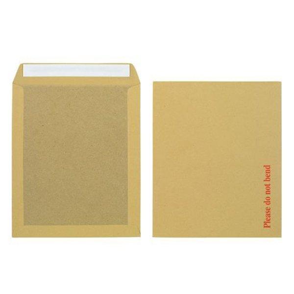 Initiative Envelope Board back Peel & Seal 12.5x10.5 115gsm Manilla (125 Pack)