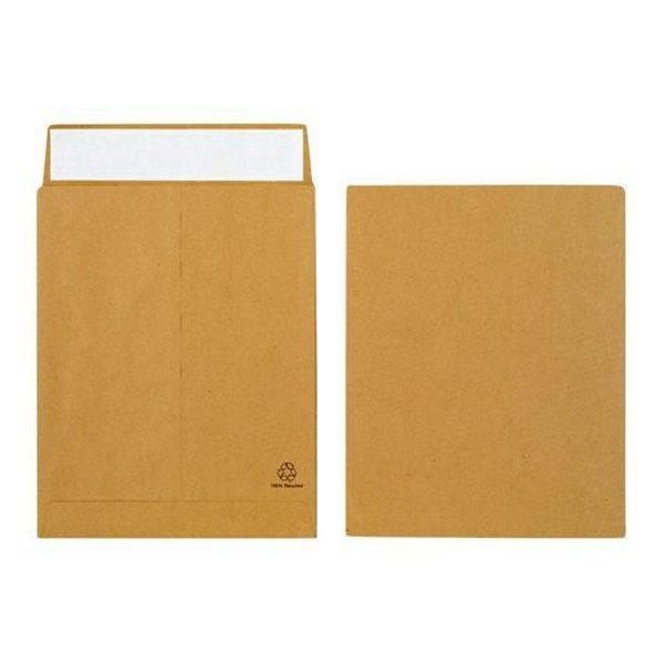 Initiative Envelope 25mm V-Base Gusset Pocketed Plain Peel n Seal 12x10x1 120gsm Manilla (125 Pack)