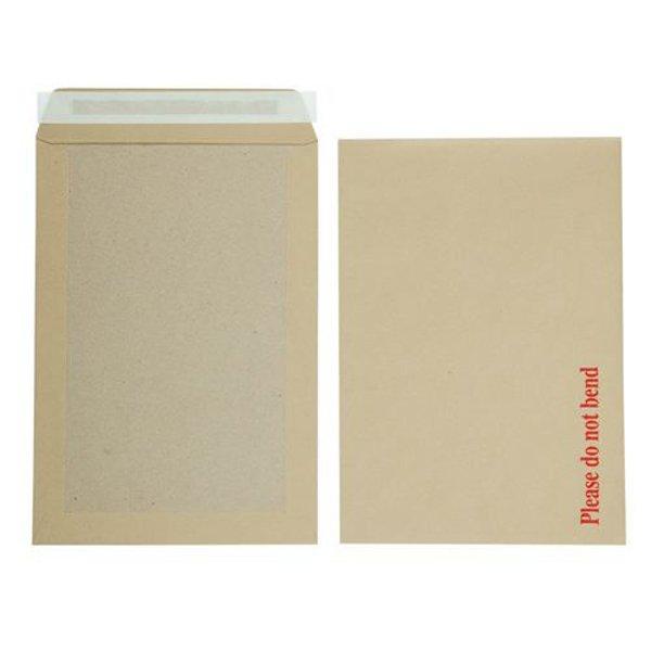 Initiative Envelope Boardbacked Peel n Seal C4 115gsm Manilla (125 Pack)