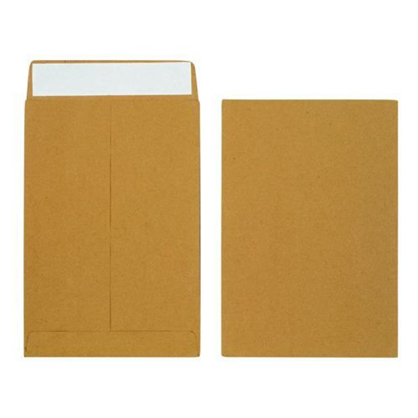 Initiative Envelope 25mm V-Base Gusset Pocketed Plain Peel n Seal 14x10x1 120gsm Manilla Pack 125