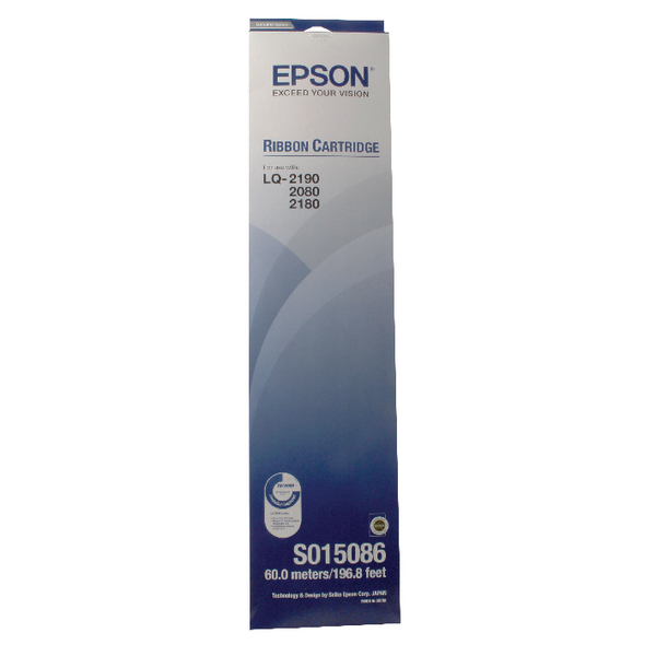 Epson Black FX-2170 Fabric Ribbon Cartridge LQ-2070/LQ-2170 S015086 / C13S015086
