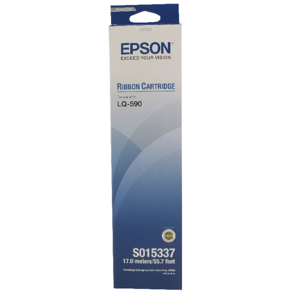 Epson LQ-590 Black Fabric Ribbon Cartridge C13S015337