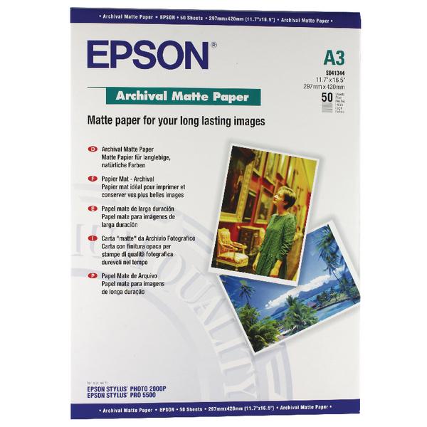 Epson Matte A3 Archival Paper 192gsm (50 Pack) C13S041344