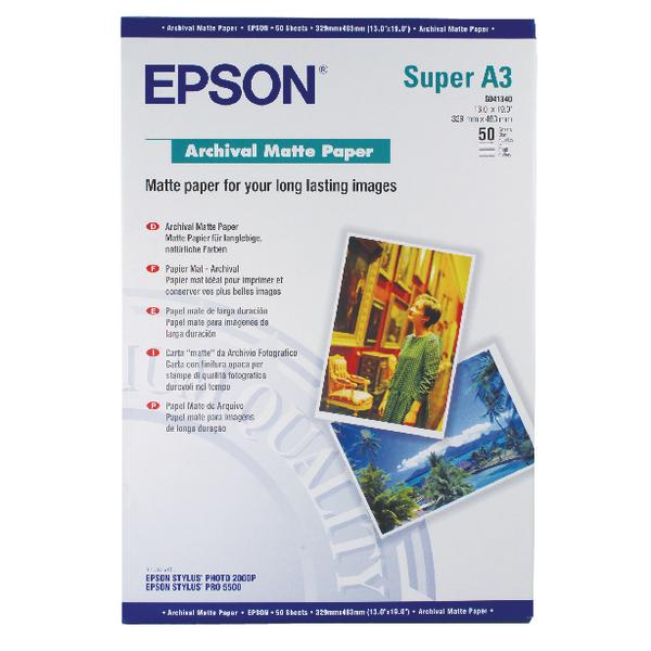 Epson A3 Plus Matte Archival Paper 192gsm (50 Pack) C13S041340