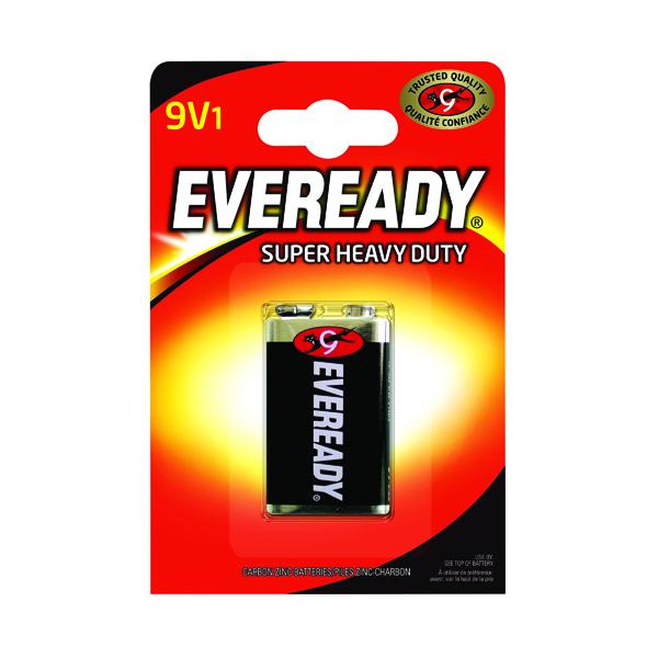 Eveready Super Heavy Duty 9V Battery 6F22BIUP