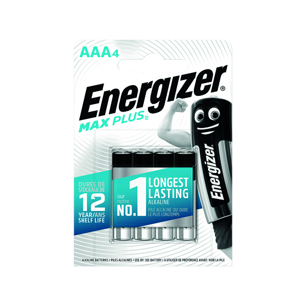Energizer Max Plus AAA Batteries (4 Pack) E301321400