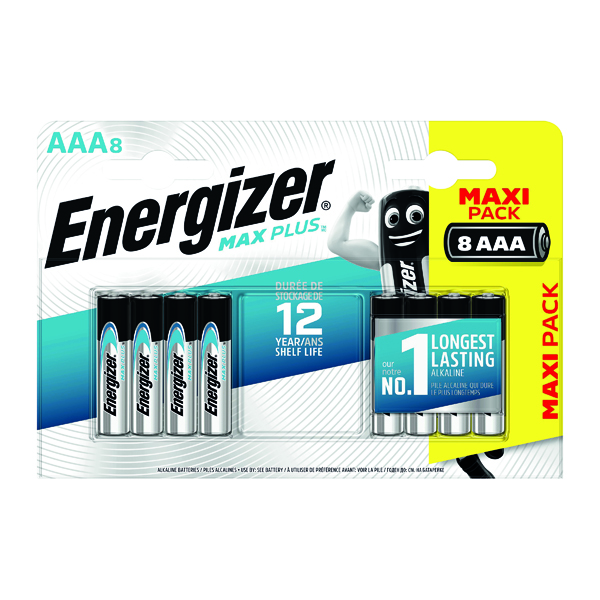 Energizer Max Plus AAA Batteries (8 Pack) E301322500