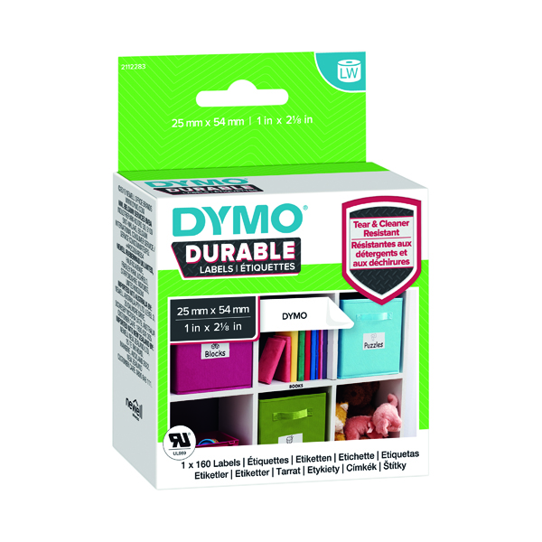 Dymo Durable Labels 25x54mm Roll 1976411