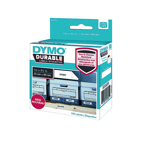 Dymo Durable Labels 25x89mm White 700 Labels 1933081