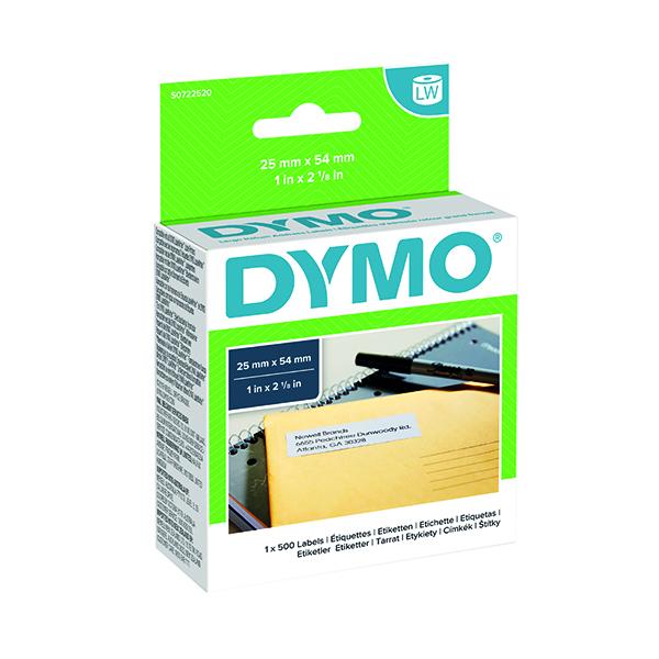Dymo White LabelWriter Return Address Label 54x25mm (500 Pack) S0722520