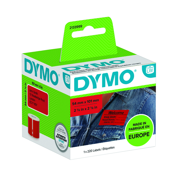 Dymo LabelWriter Shipping labels 54mmx101mm Red (220 Pack) 2133399