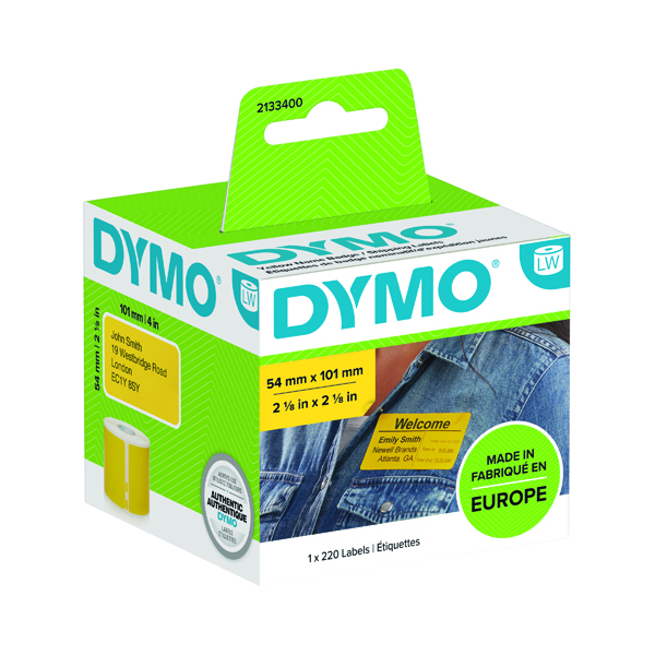 Dymo LabelWriter Shipping labels 54x101mm Yellow (220 Pack) 2133400