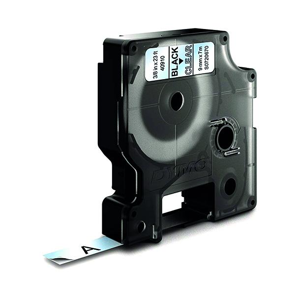 Dymo Black on Clear 1000/5000 D1 Standard Tape 9mm x 7m S0720670