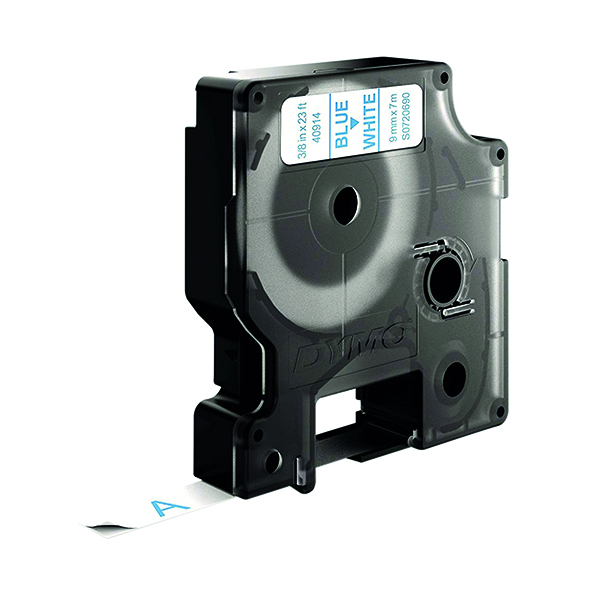 Dymo Blue on White 1000/5000 D1 Standard Tape 9mmx7m S0720690
