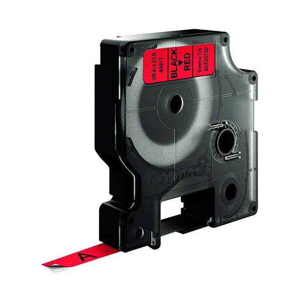 Dymo Black on Red 1000/5000 D1 Standard Tape 9mmx7m S0720720