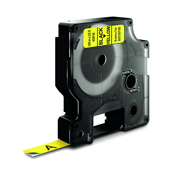 Dymo Black on Yellow 1000/5000 D1 Standard Tape 9mm x 7m S0720730