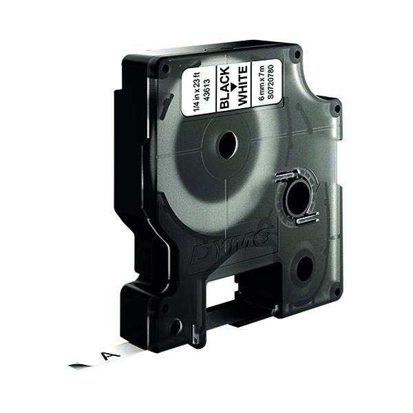 Dymo Black on White 1000/5000 D1 Standard Tape 6mm x 7m S0720780