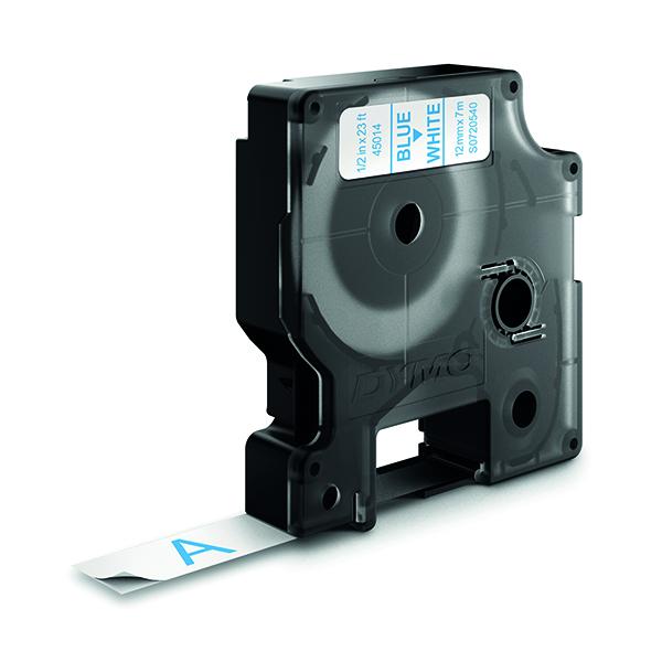 Dymo Blue on White 4500 D1 Standard Tape 12mm x 7m S0720540